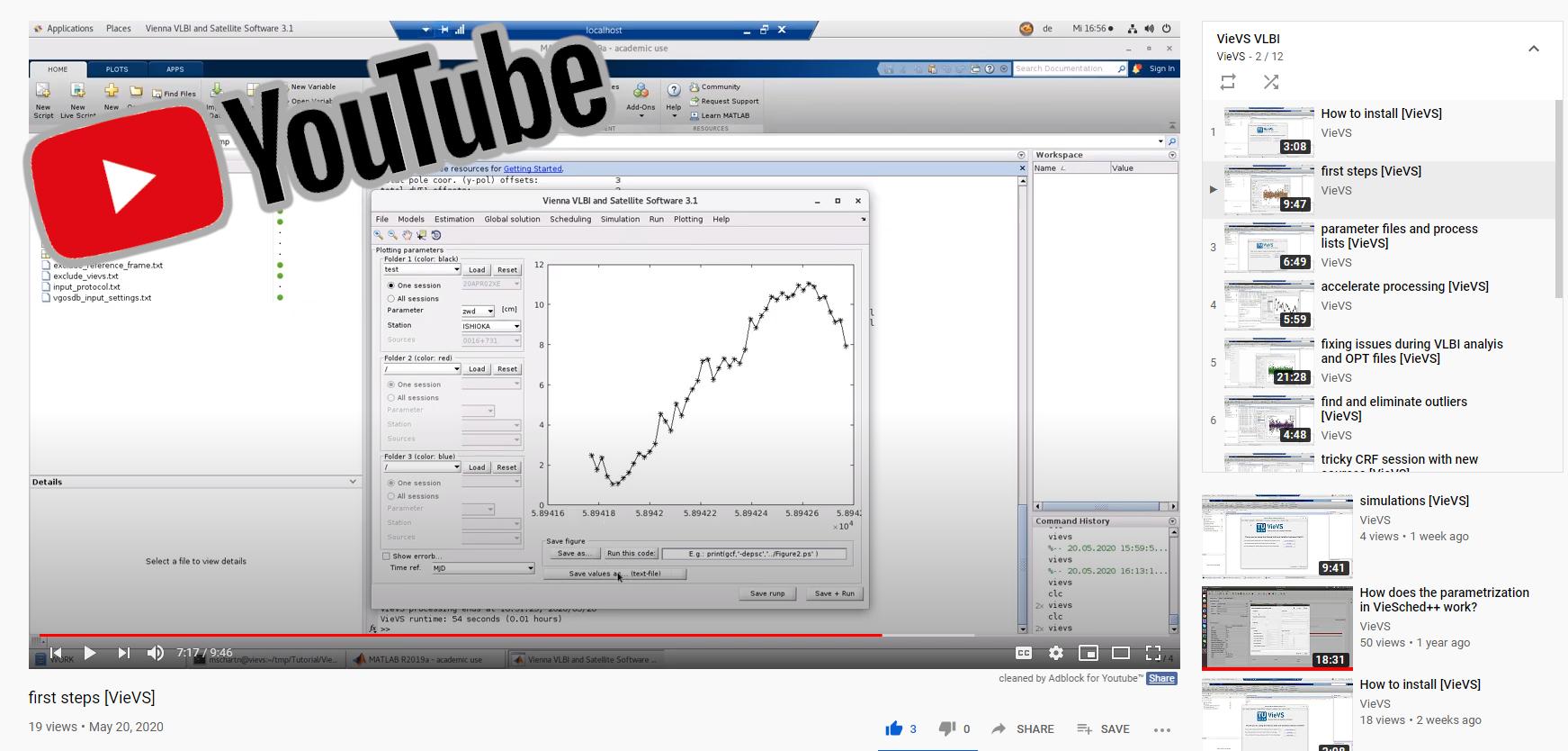 VieVS YouTube tutorials online